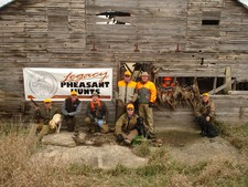 Jim, Brad and Bryan and the Gang enjoying the 2007 South Dakota Pheasant Opener at Legacy Pheasant Hunts.